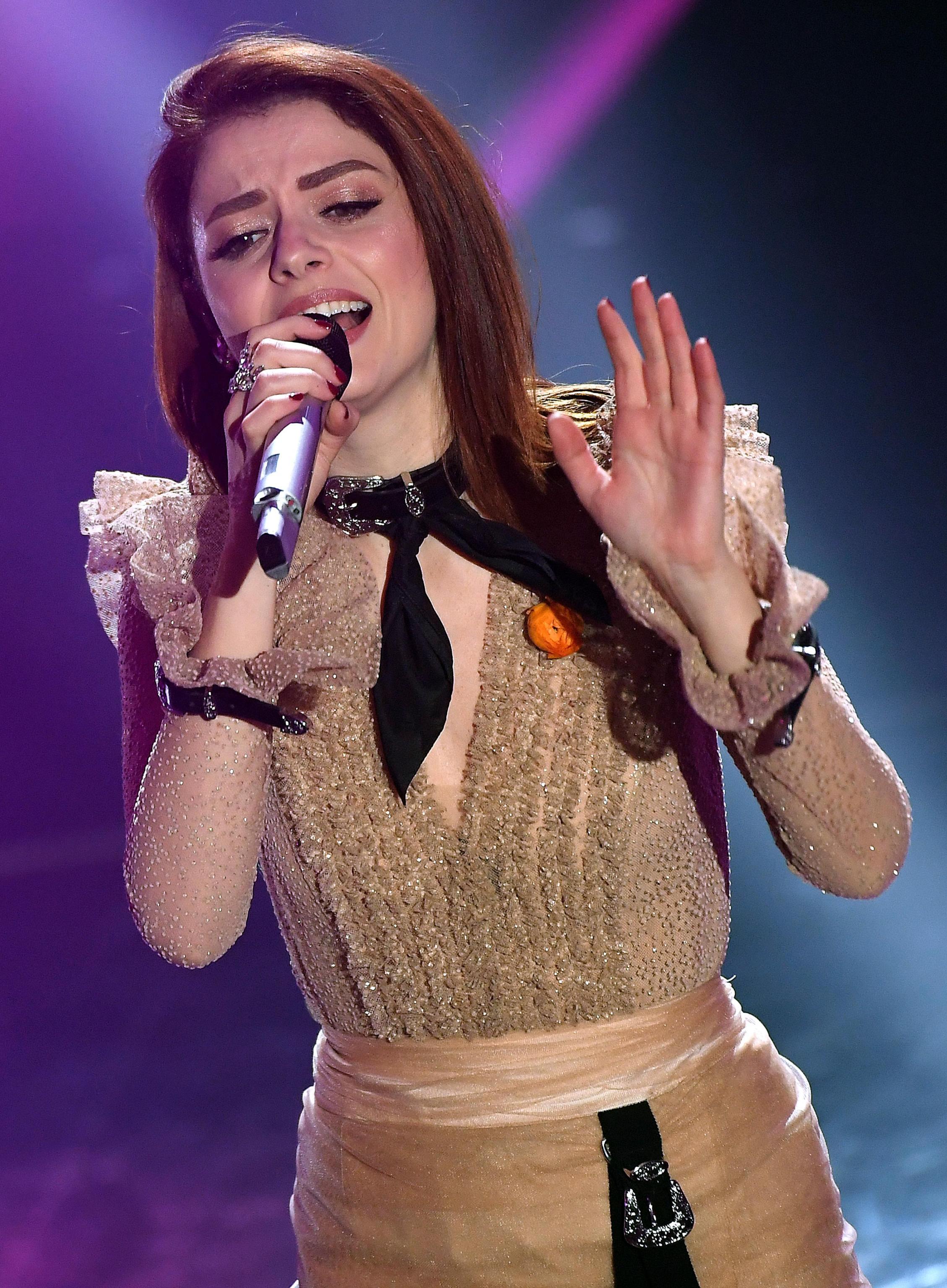 L'abito di Annalisa per la finale di Sanremo