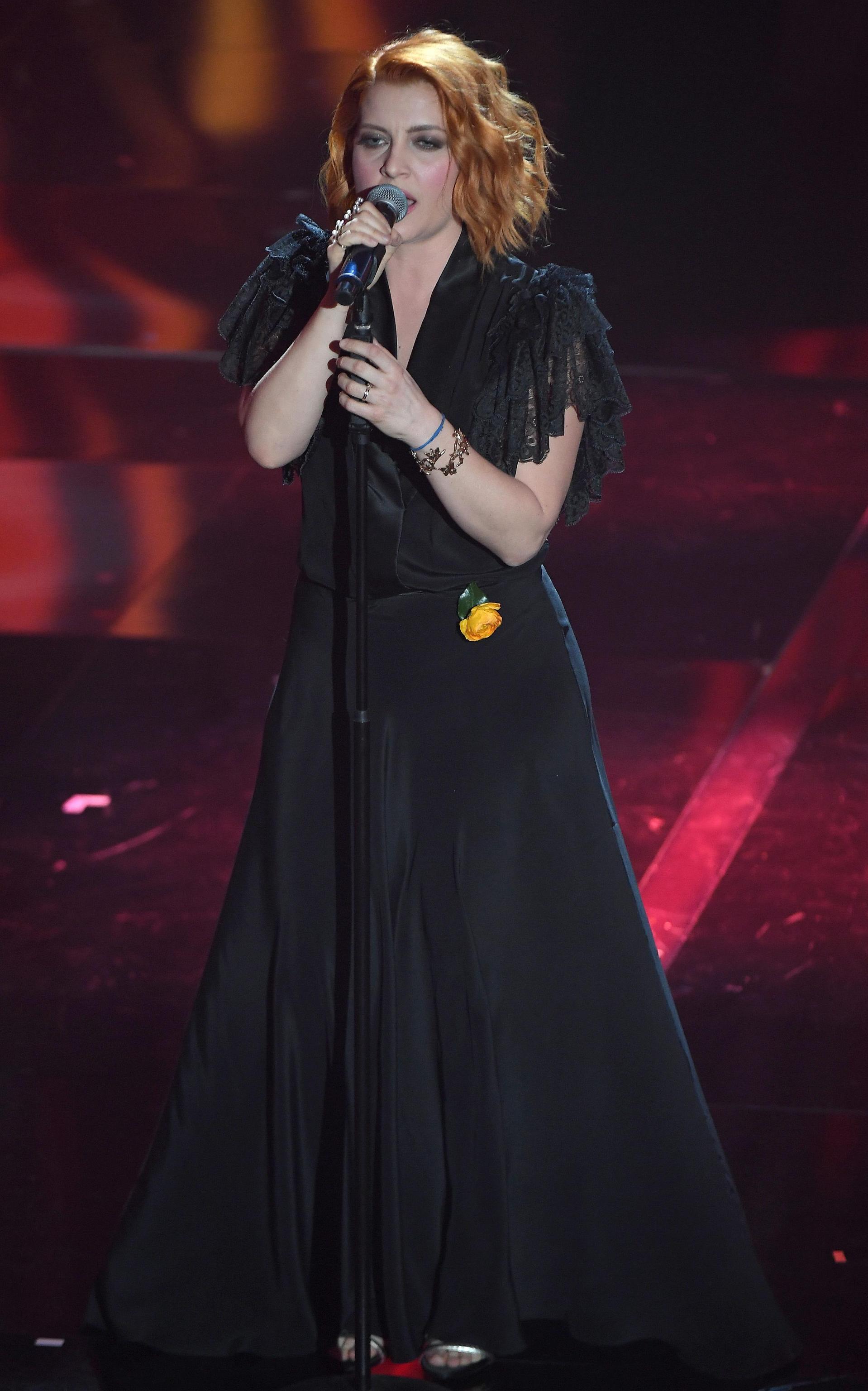 L'abito di Noemi per la finale di Sanremo 2018