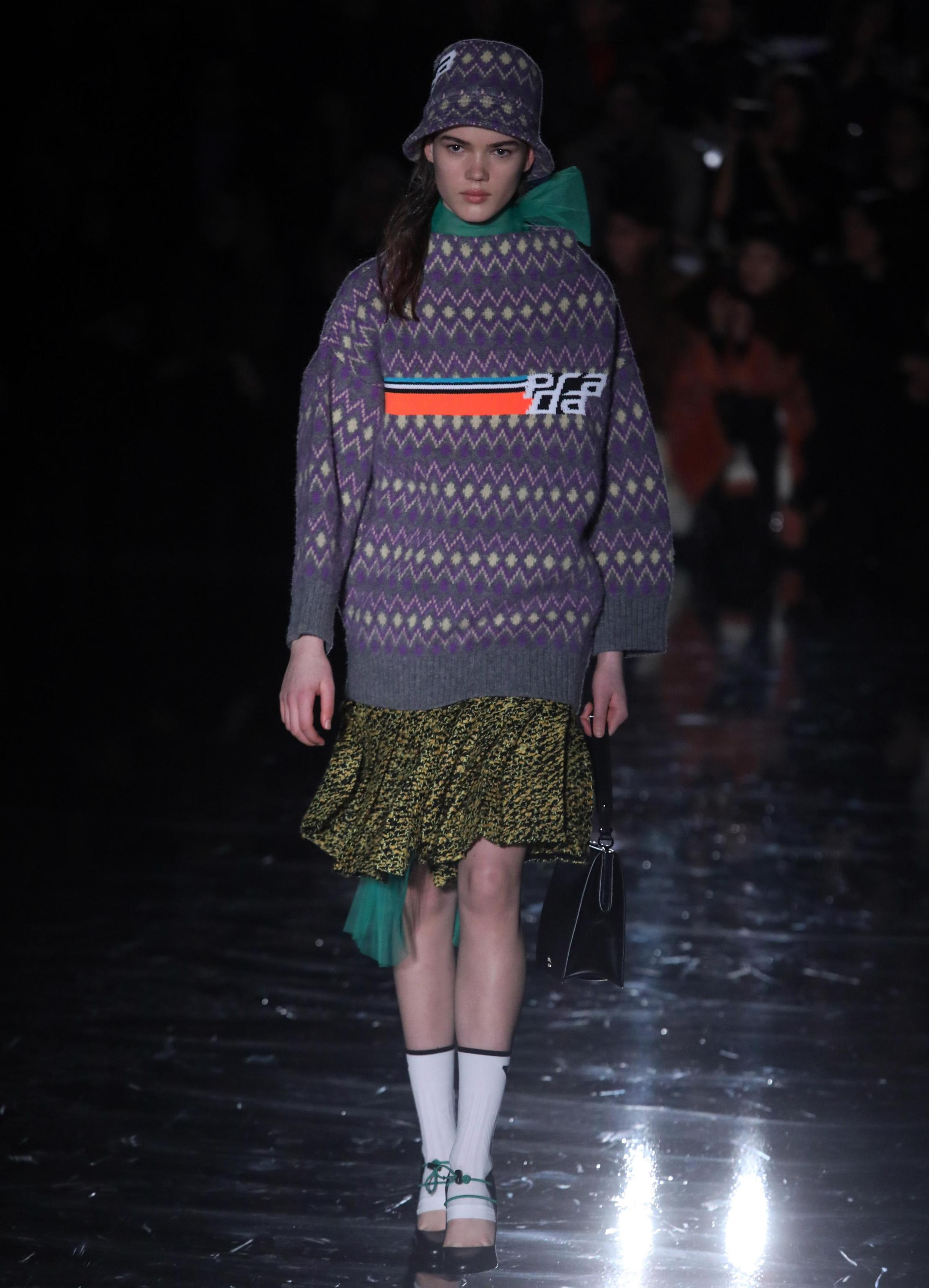 Look Prada milano fashion week 2018
