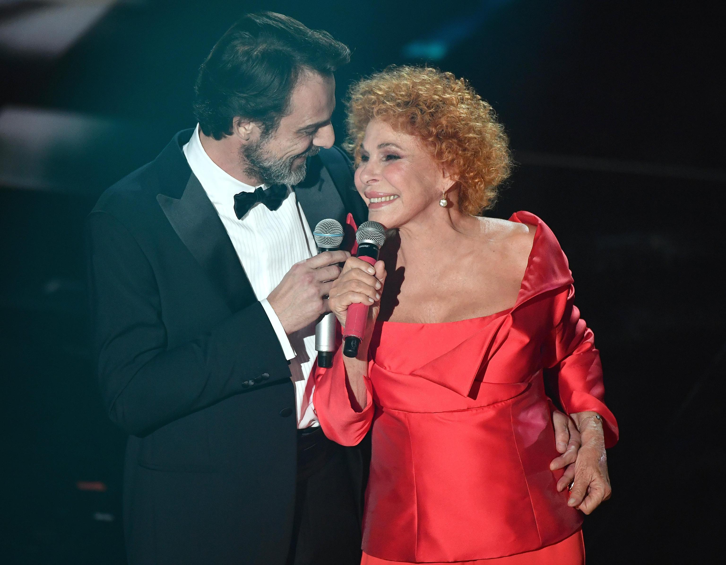 Ornella Vanoni e Alessandro Preziosi a Sanremo 2018