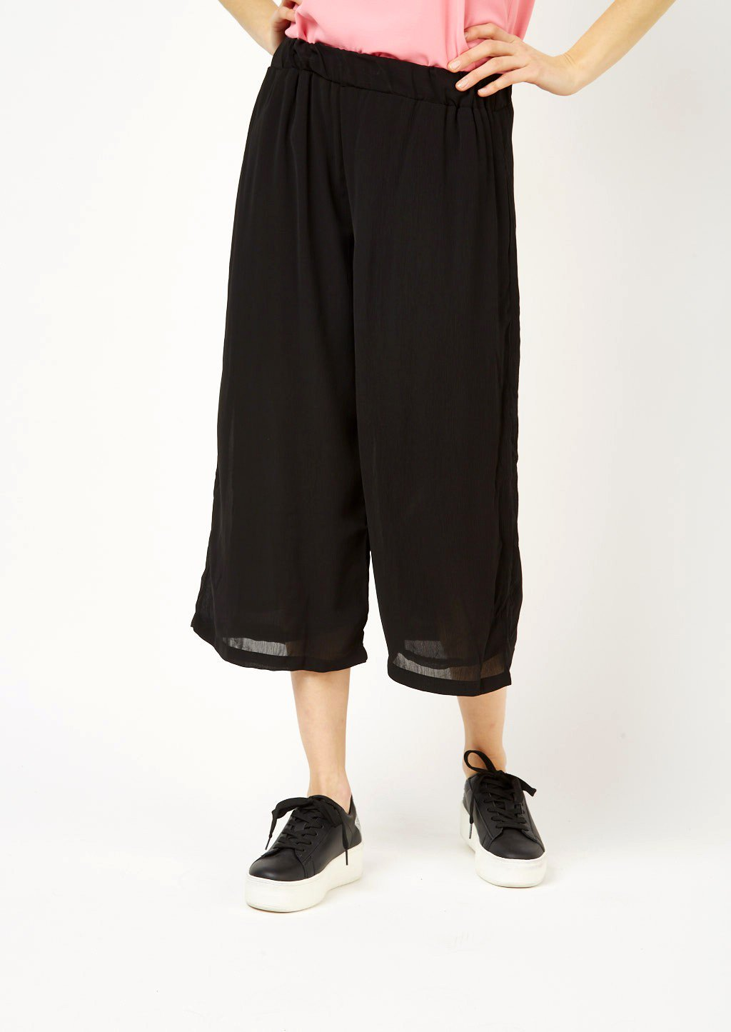 Pantaloni culotte neri Alcott collezione 2018