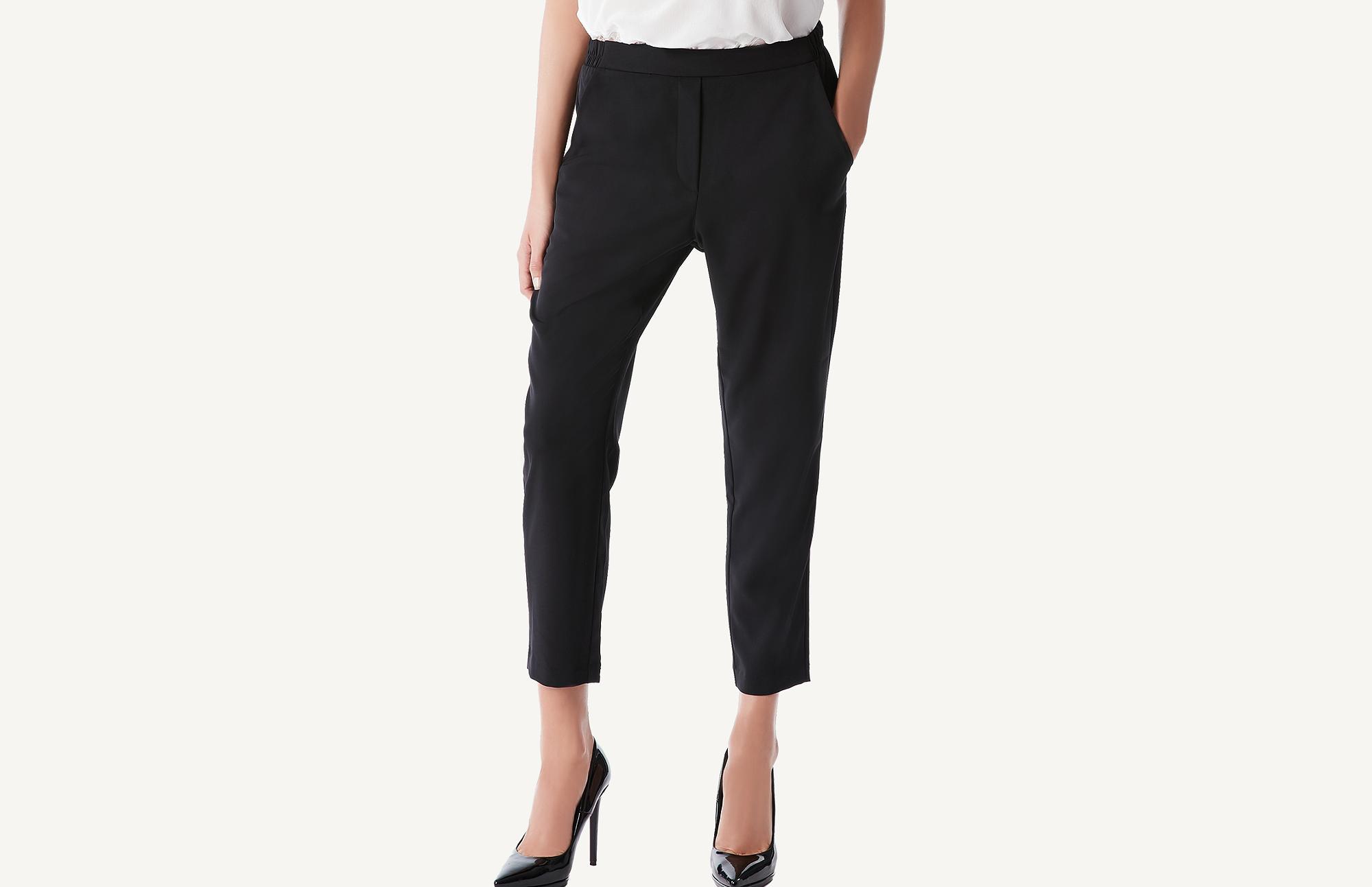 Pantaloni neri con tasche Intimissimi