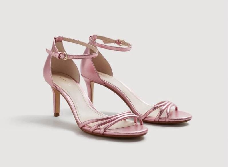Sandali rosa con tacco Mango collezione primavera estate 2018