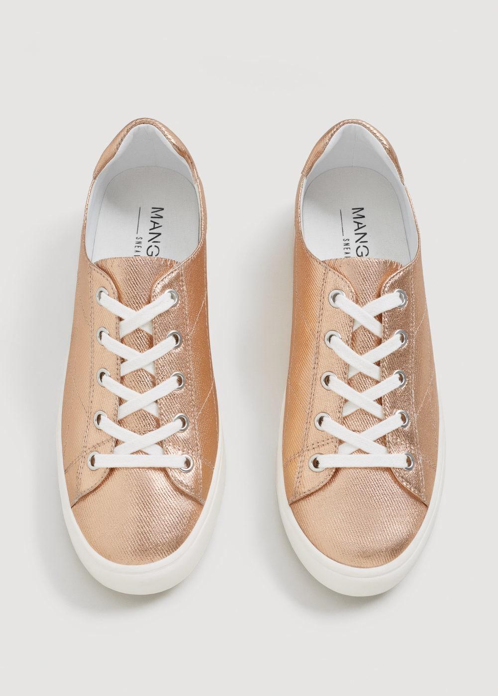 Sneakers effetto metallizzato Mango collezione primavera estate 2018