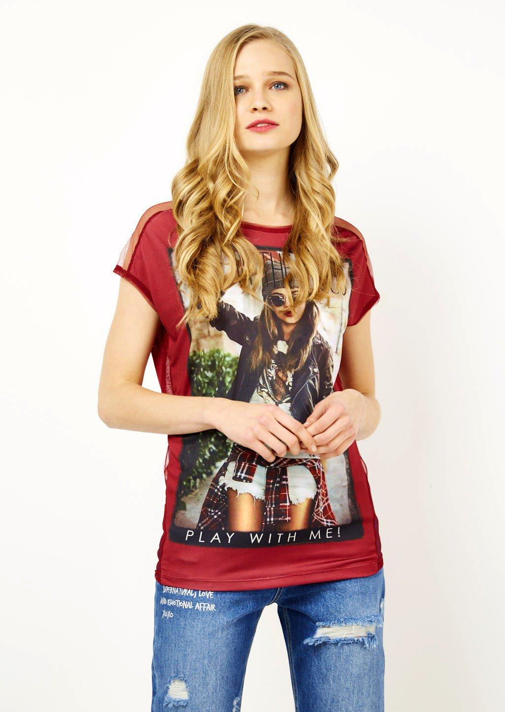 T shirt con stampa Alcott catalogo primavera estate 2018