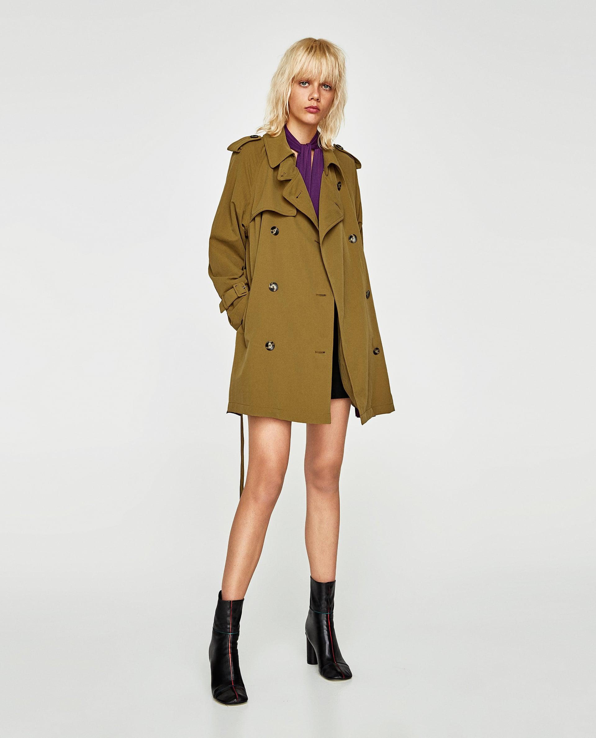 Trench Zara corto verde