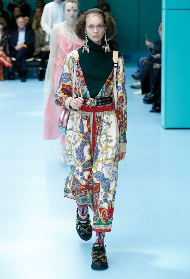 Tuta jumpsuit con stampa Gucci