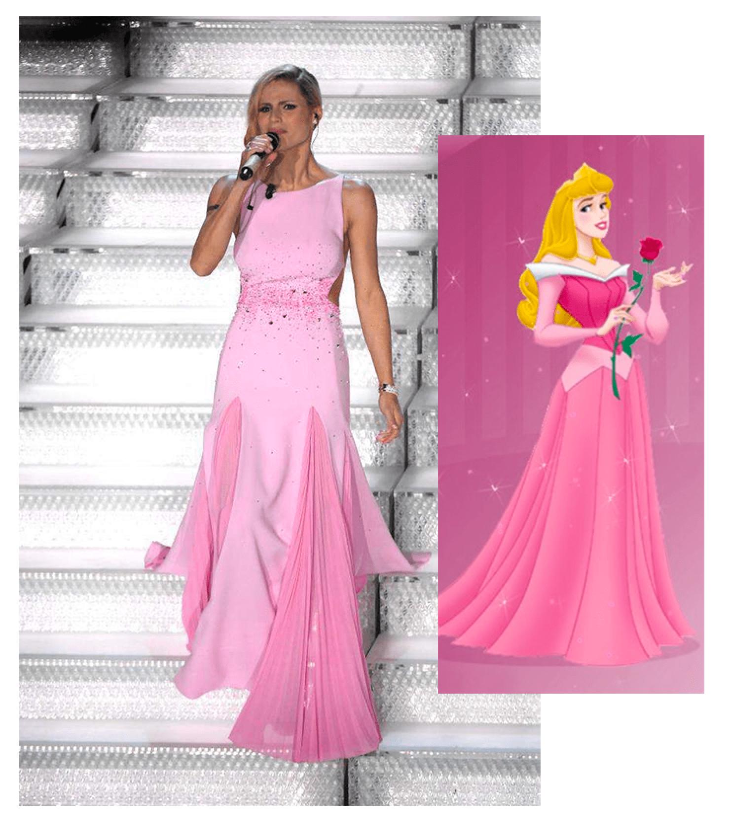 michelle hunziker abito rosa