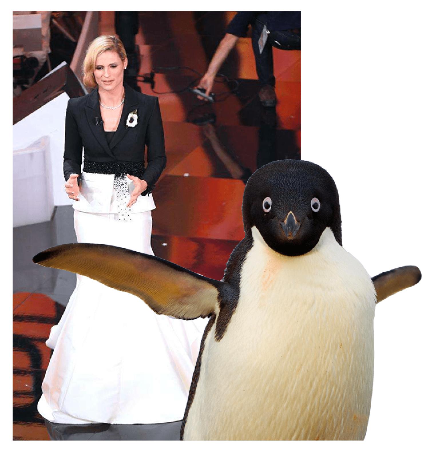 michelle hunziker sanremo pinguino