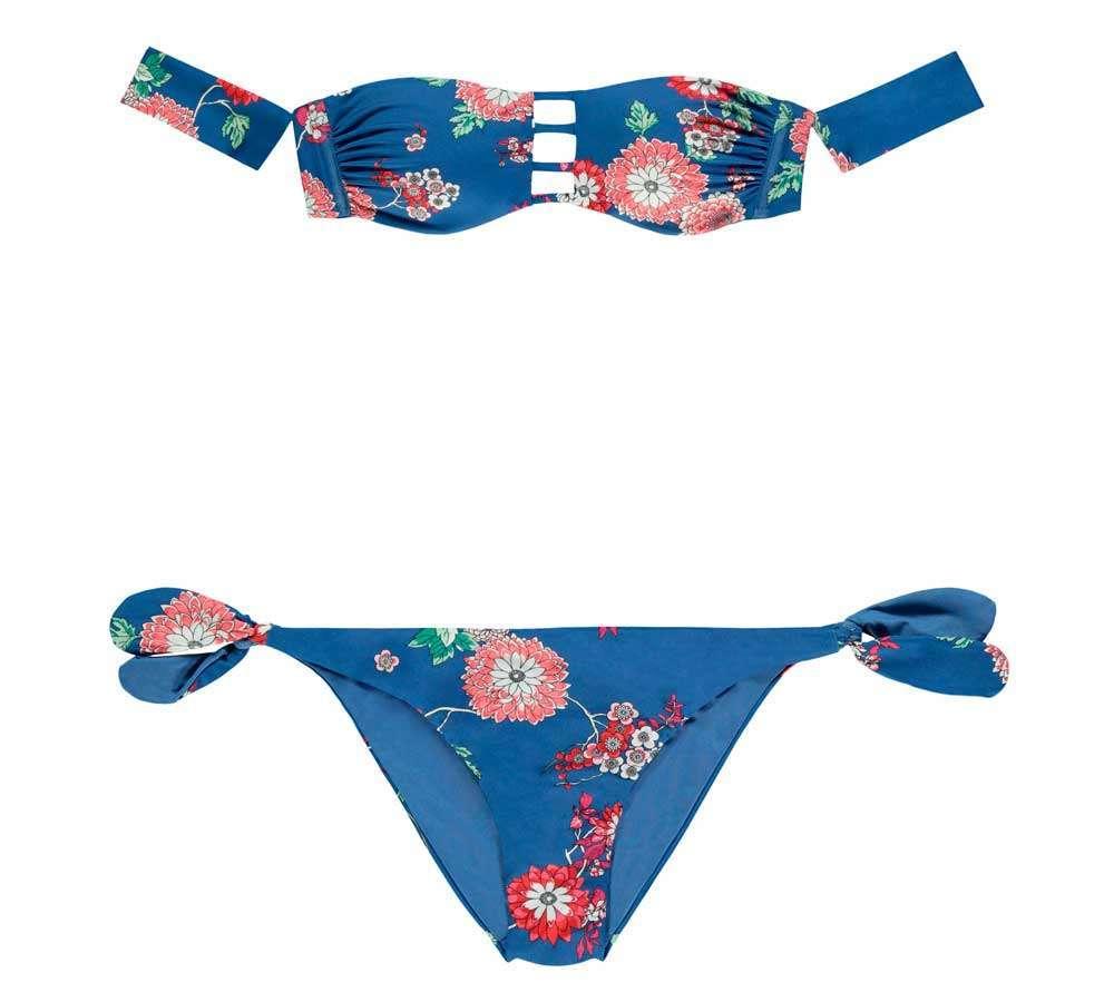 Bikini a fascia a fiori Tezenis