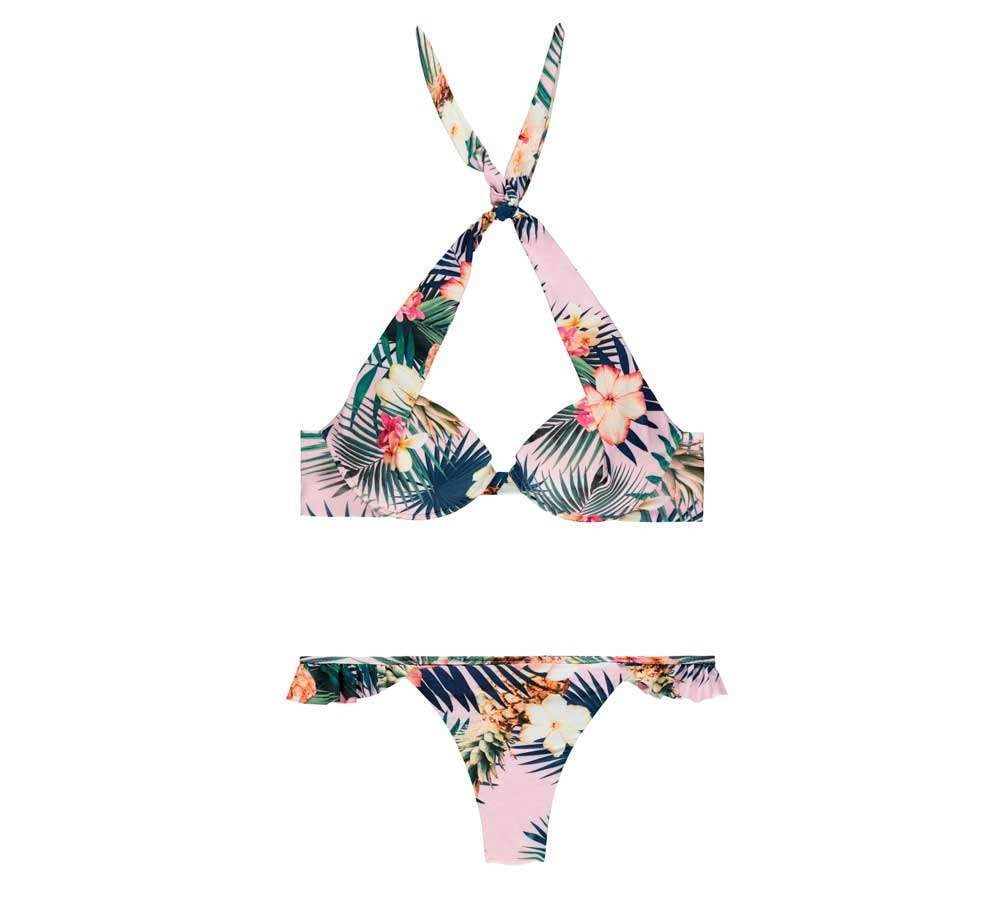 Bikini con stampa tropical Tezenis