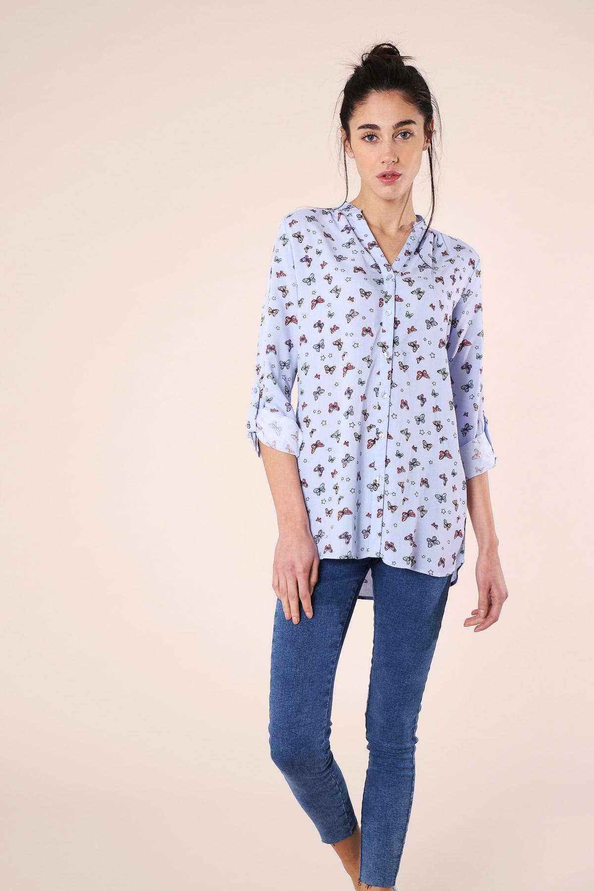 Camicia con farfalle Terranova
