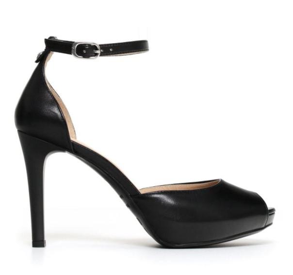 Scarpe nere con tacco e cinturino Nero Giardini