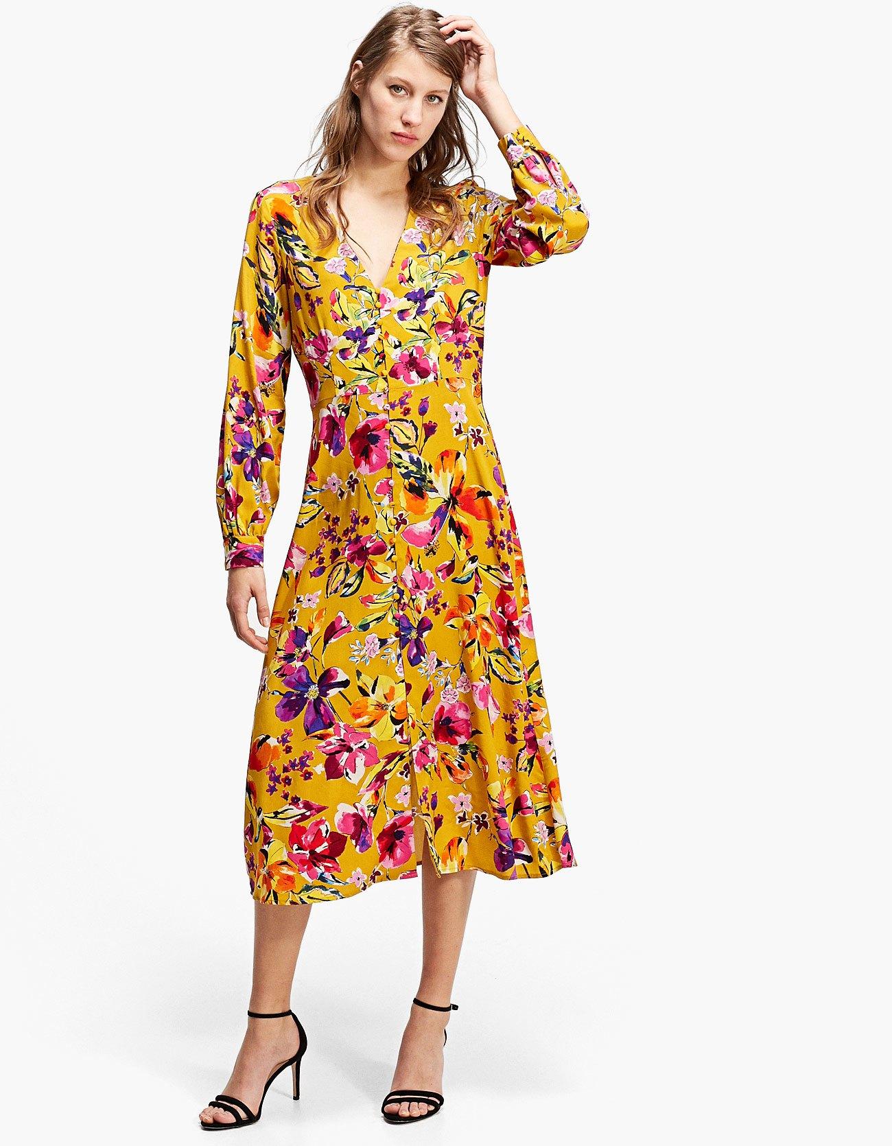 Vestito lungo a fiori Stradivarius