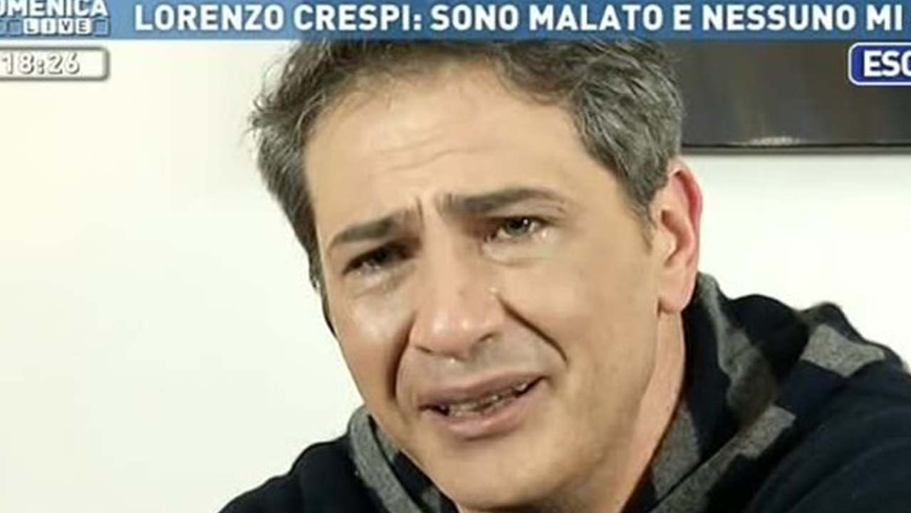 Lorenzo Crespi, rinviato il ricovero in ospedale: la rabbia dell'attore
