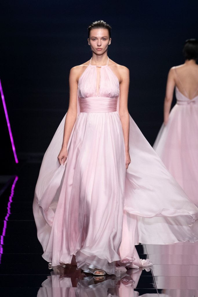 Abito da sposa rosa stile impero Blumarine