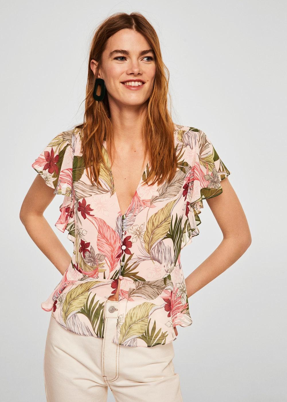 Camicia a fiori Mango