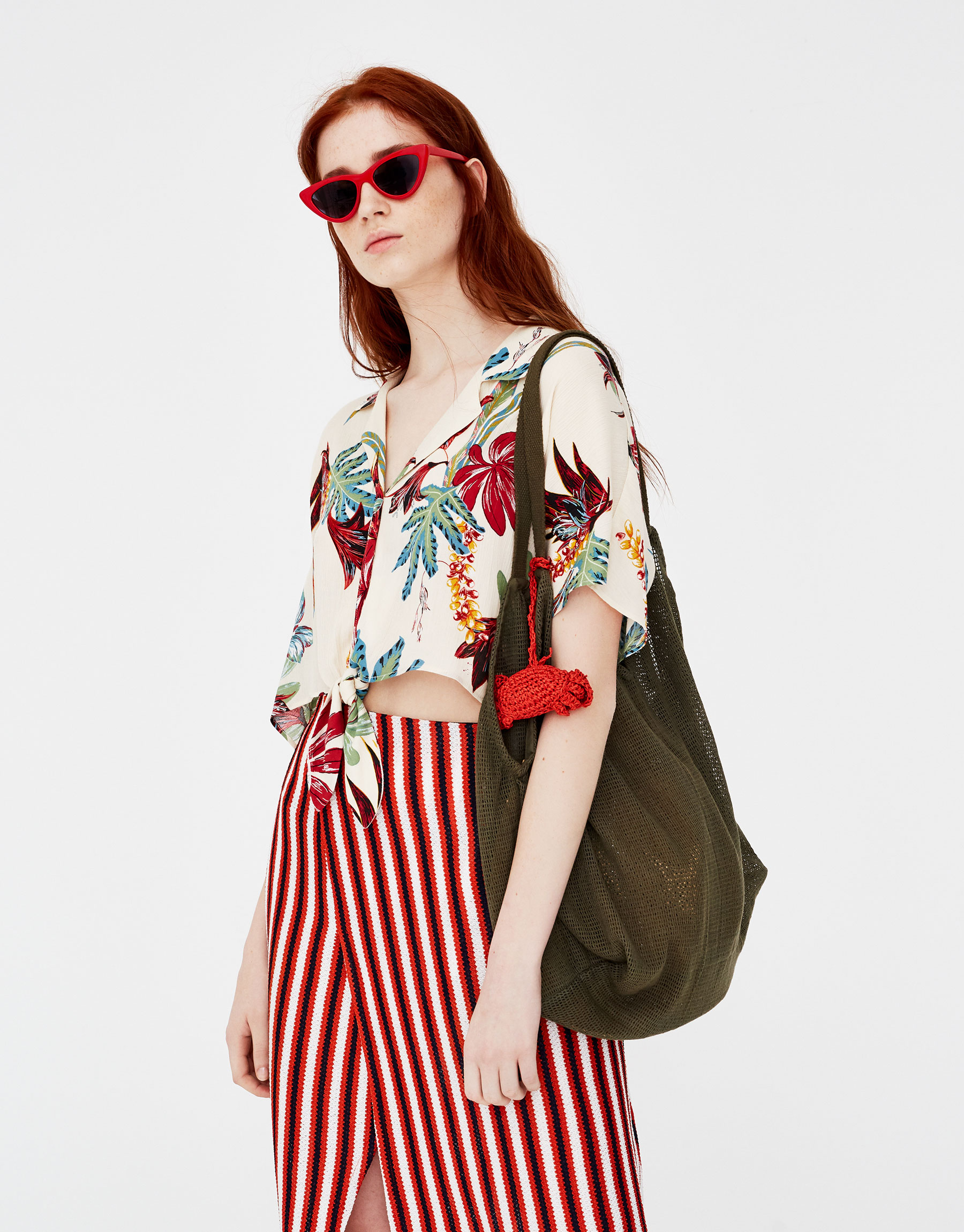 Camicia a fiori hawaiana Pull and Bear