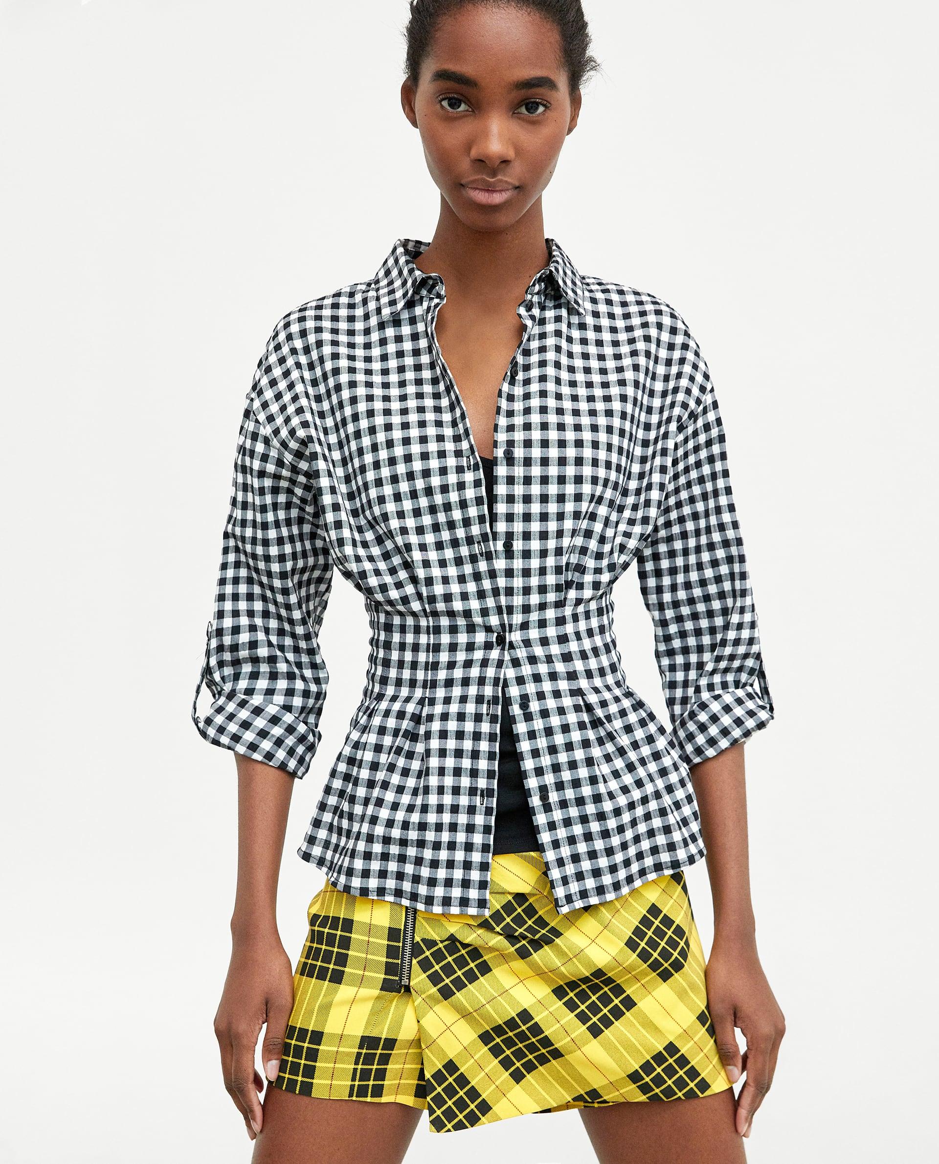 Camicia a quadretti vichy Zara