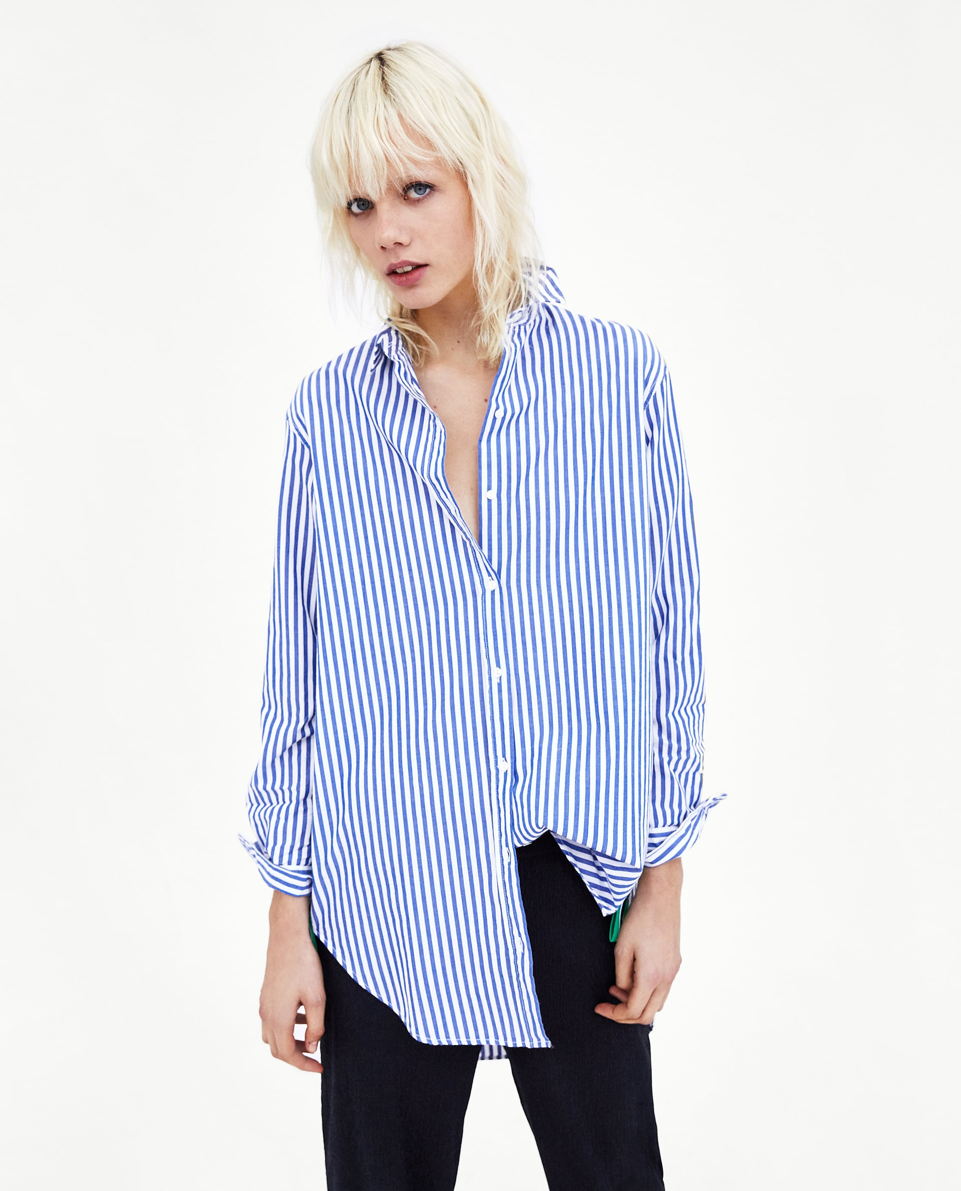 Camicia a righe oversize Zara