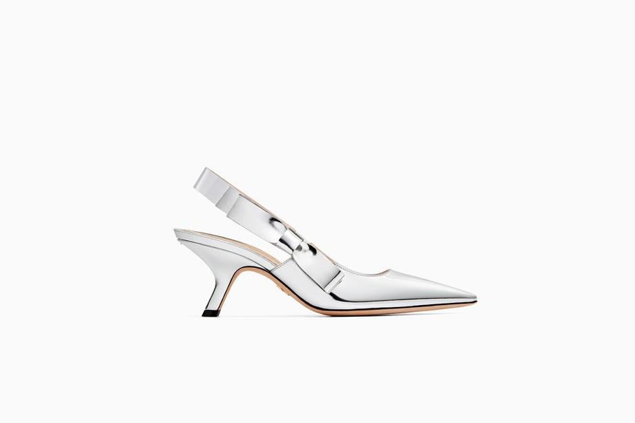 Scarpe a punta Dior Sweet argento