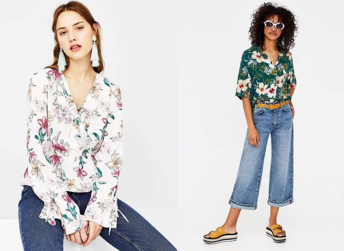 Camicie a fiori, la tendenza romantica per la Primavera/Estate 2018