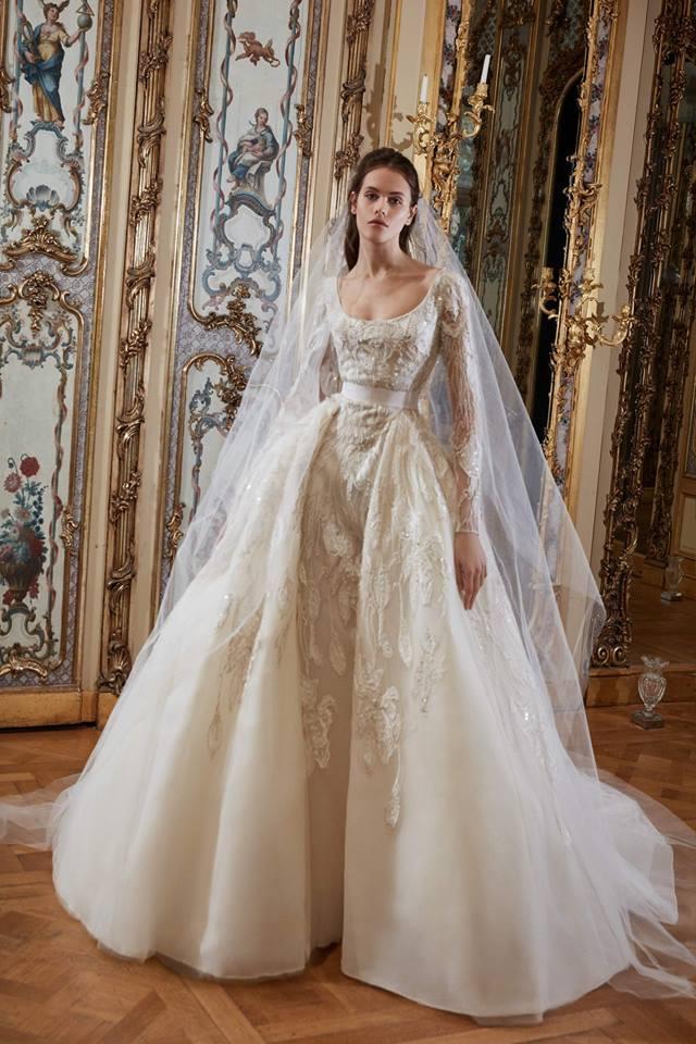Abito da sposa color champagne Elie Saab