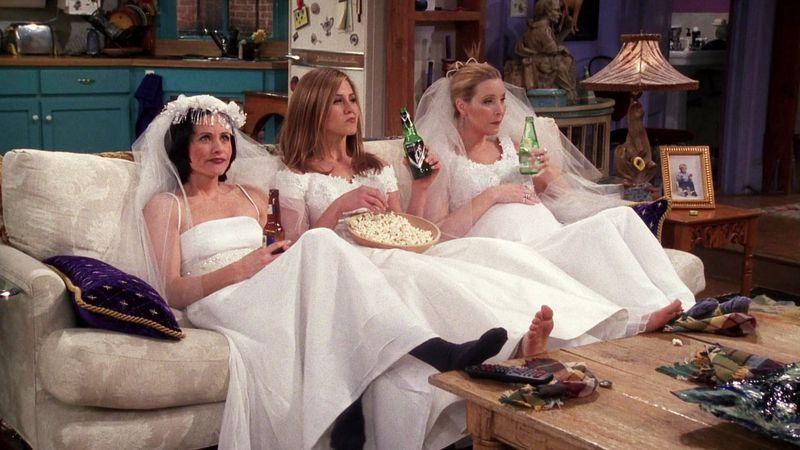 Gli abiti da sposa di Friends