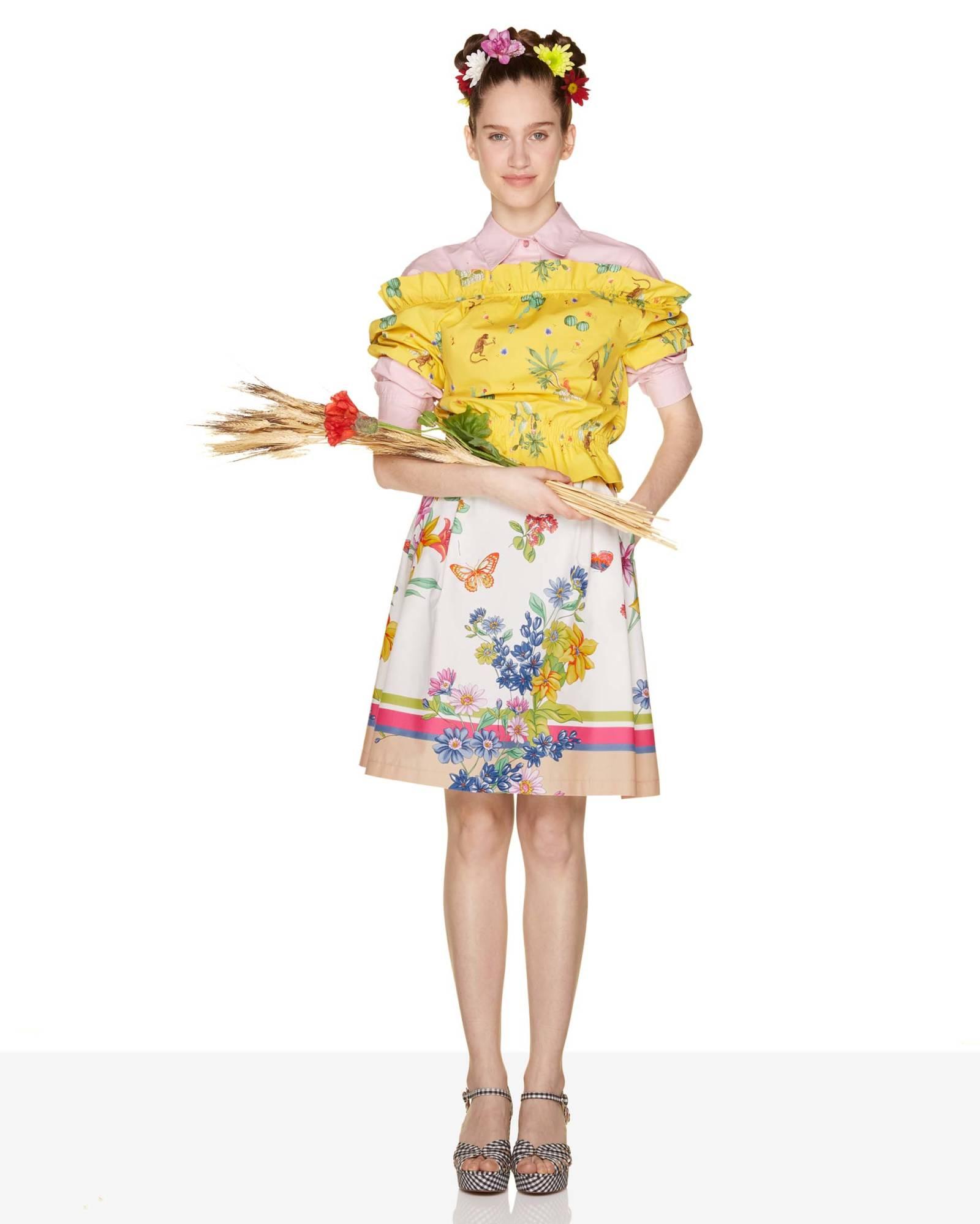 Gonna colorata a fiori Benetton a 49,95 euro