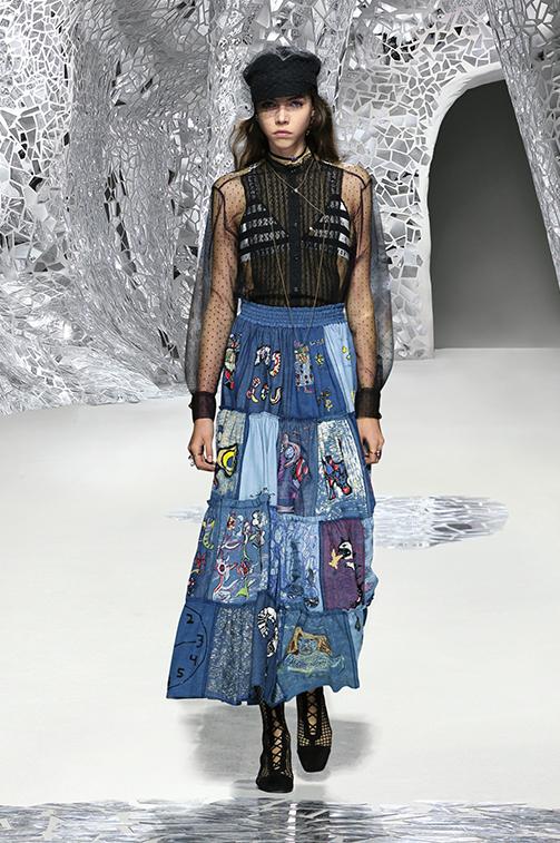 Gonna di jeans lunga Dior