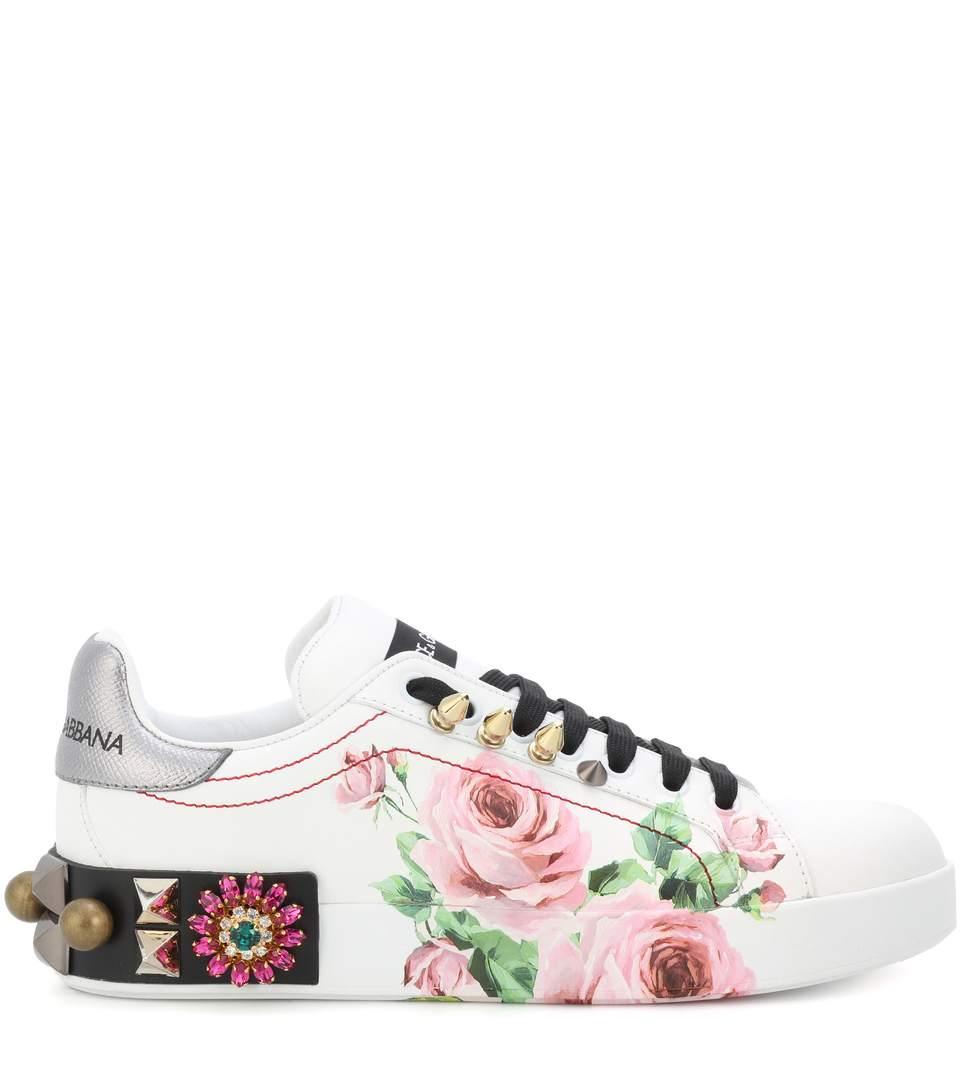 Sneakersa fiori Dolce & Gabbana