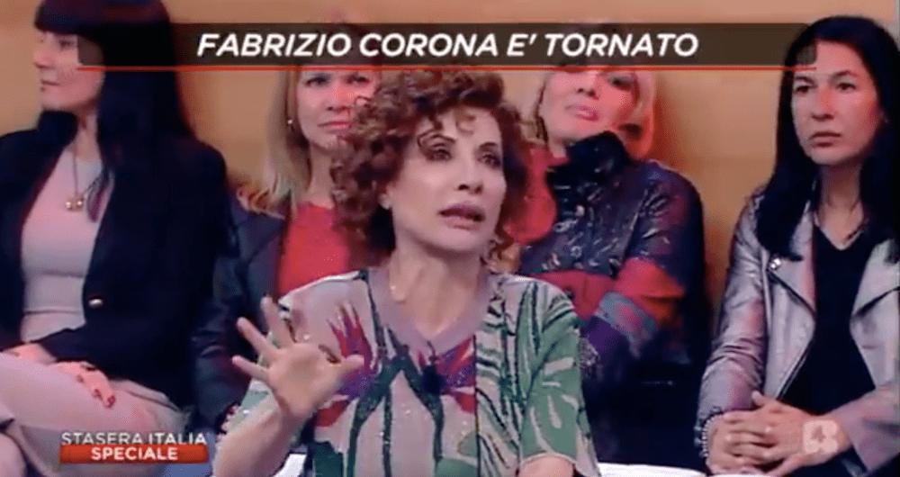 Fabrizio Corona sbotta in diretta tv contro Alda D'Eusanio