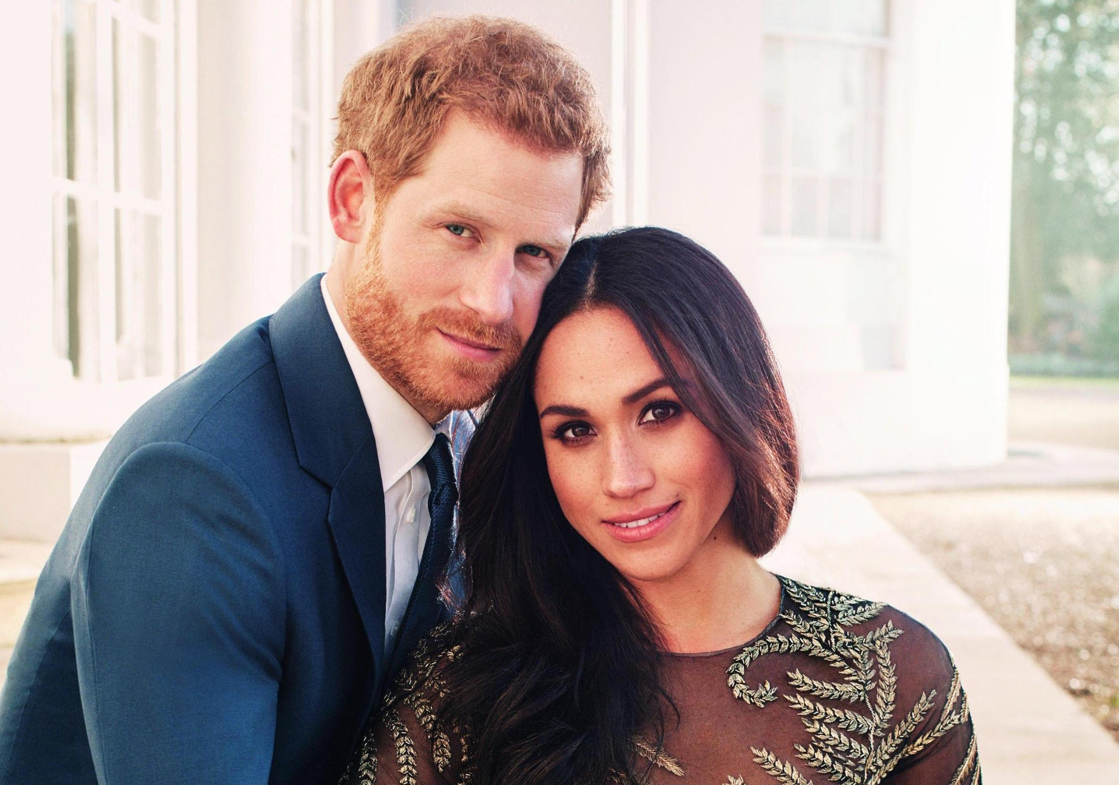 Prince Harry and Meghan Markle official engagement portraits