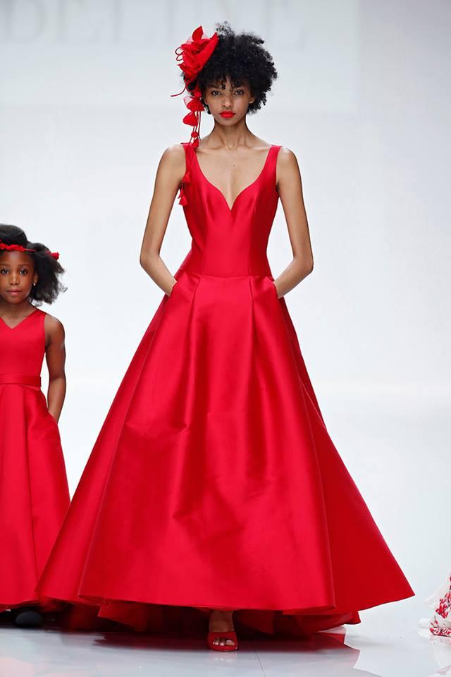 Abito da sposa rosso Cymbeline