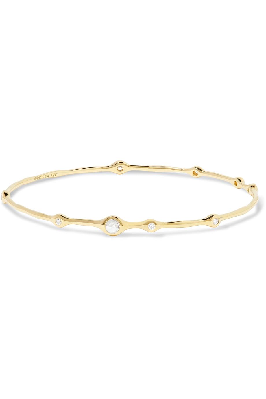 Bracciale in oro con diamanti Ippolita