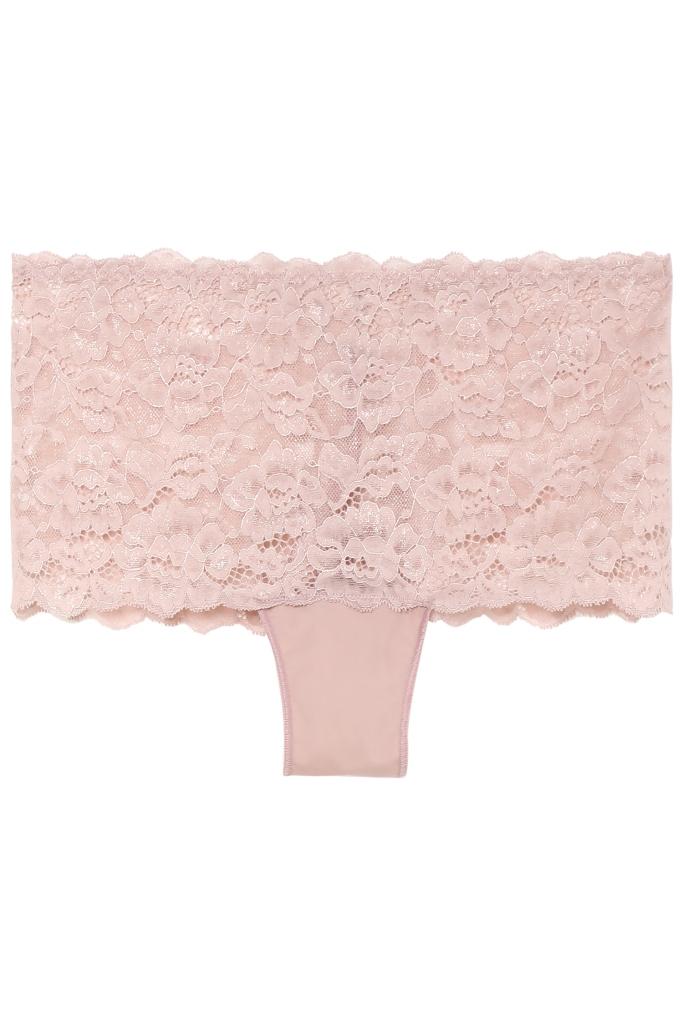 Culotte rosa di pizzo a vita alta Tezenis
