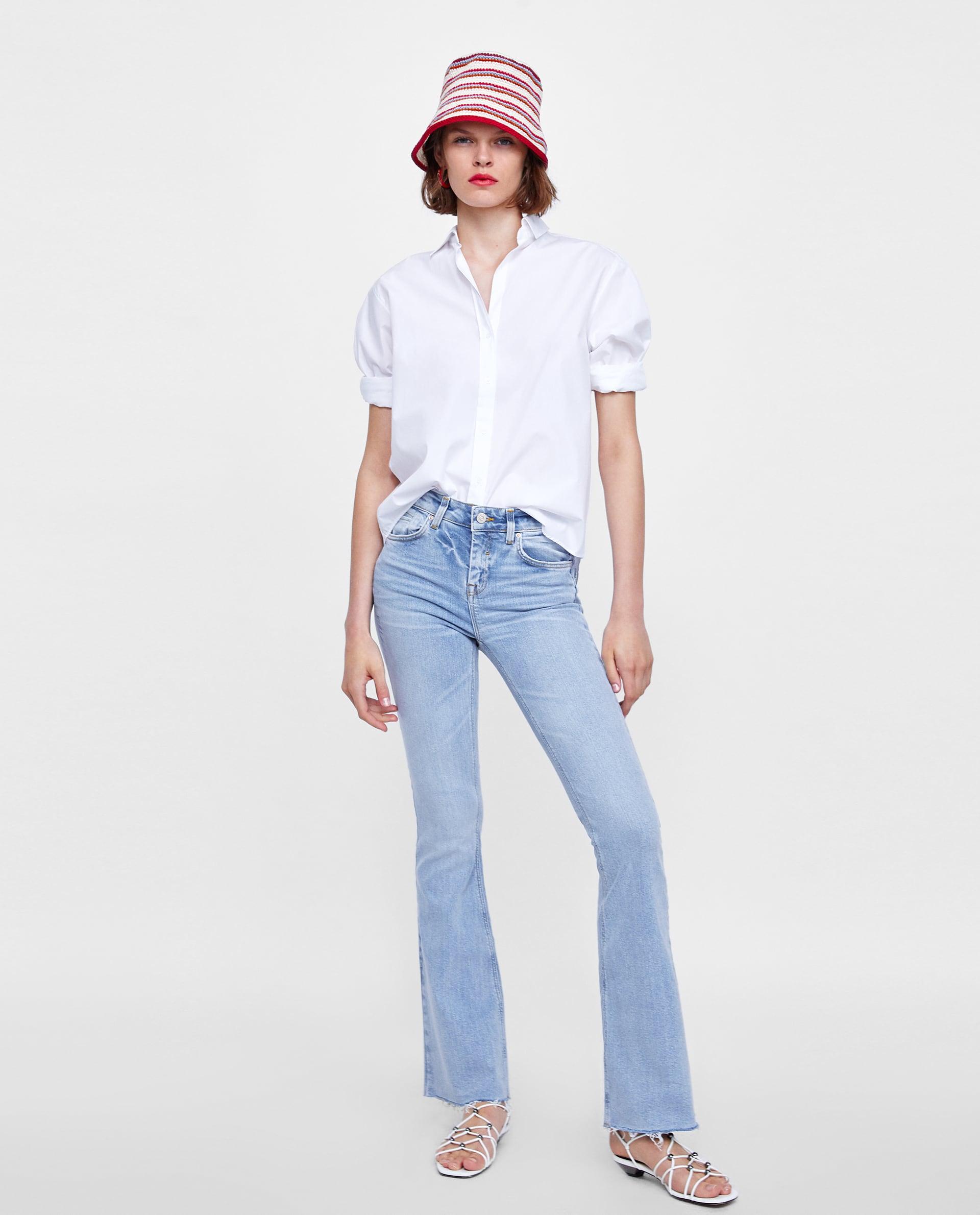 Jeans chiari e camicia Zara