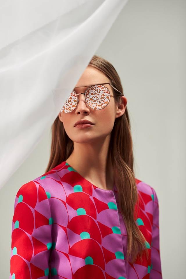 Occhiali da sole Armani a goccia con lenti decorate