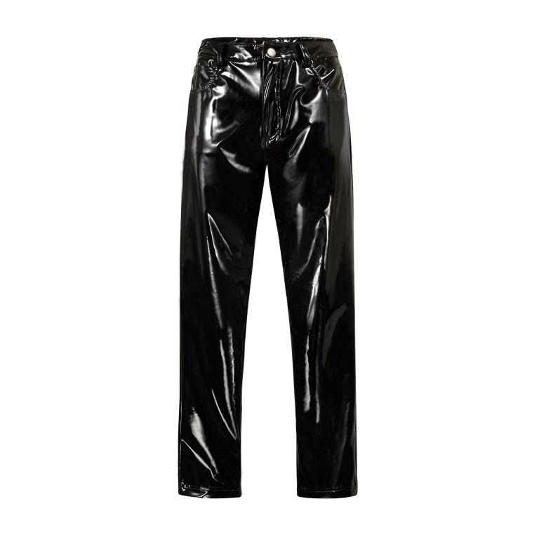 Pantaloni effetto vinile nero OVS