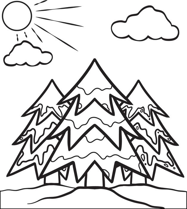 disegni degli alberi da colorare