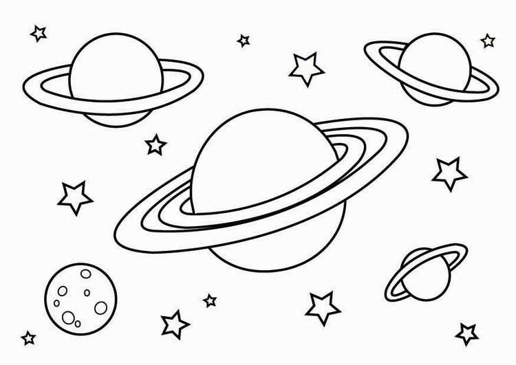 Disegni dei pianeti da stampare e colorare per bambini for Disegni di girasoli da colorare