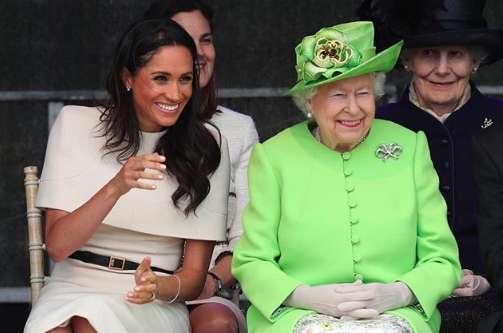 Meghan Markle con la regina Elisabetta II, il primo impegno pubblico senza Harry