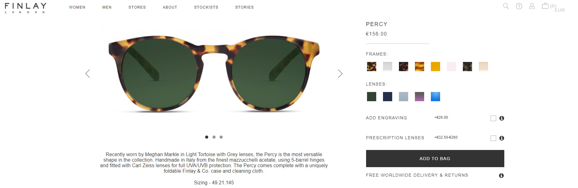 occhiali meghan markle