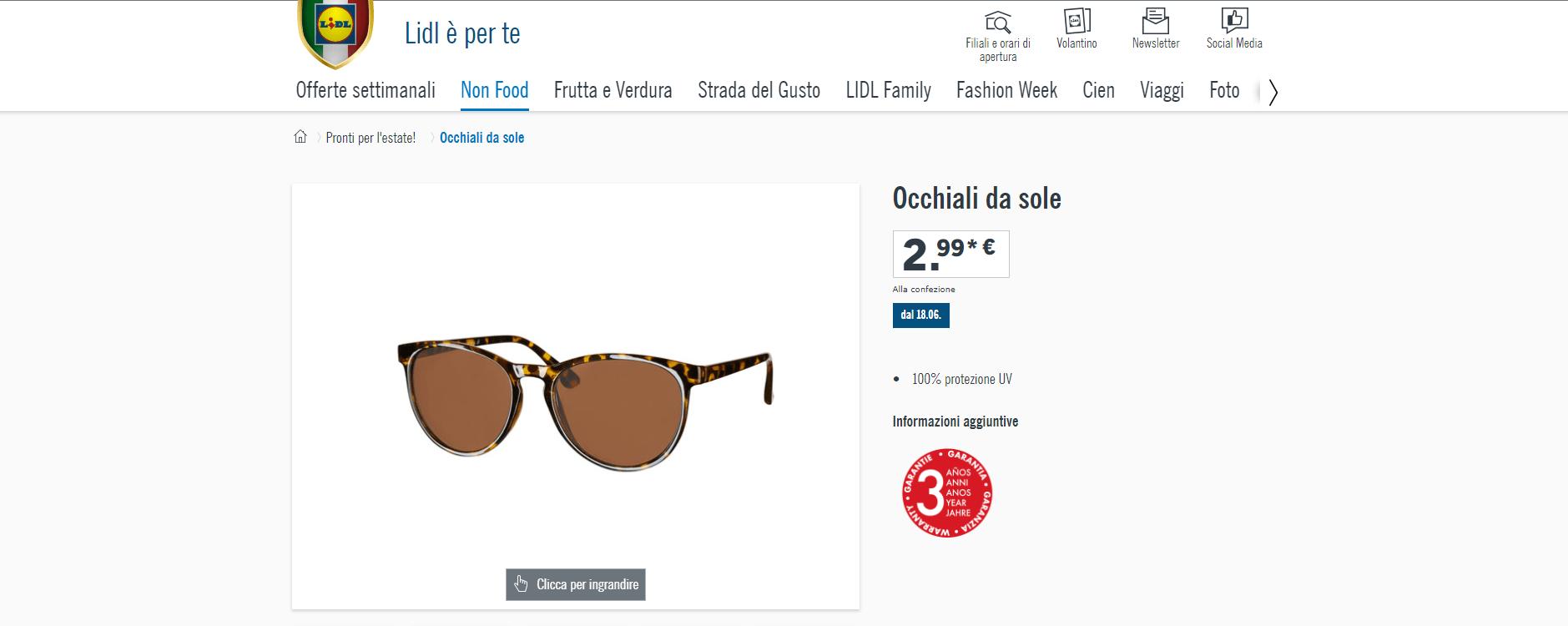 occhiali sole lidl meghan markle