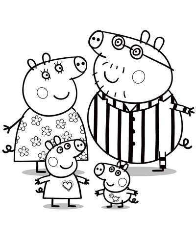 Disegno Di Peppa Pig Da Colorare.Disegni Peppa Pig Da Colorare I Piu Belli Da Stampare Per