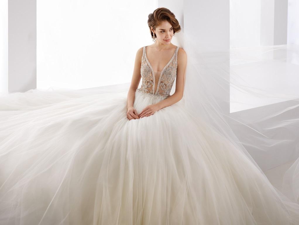 Abito da sposa gioiello in tulle Jolie