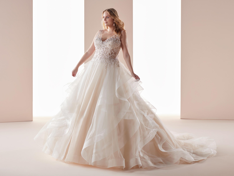 Abito da sposa gioiello per taglie comode Nicole Lovely Wedding Curves