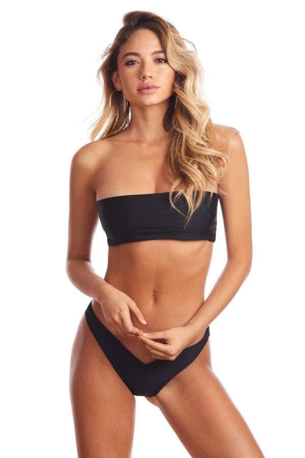 Bikini a fascia nero Bikini Lovers