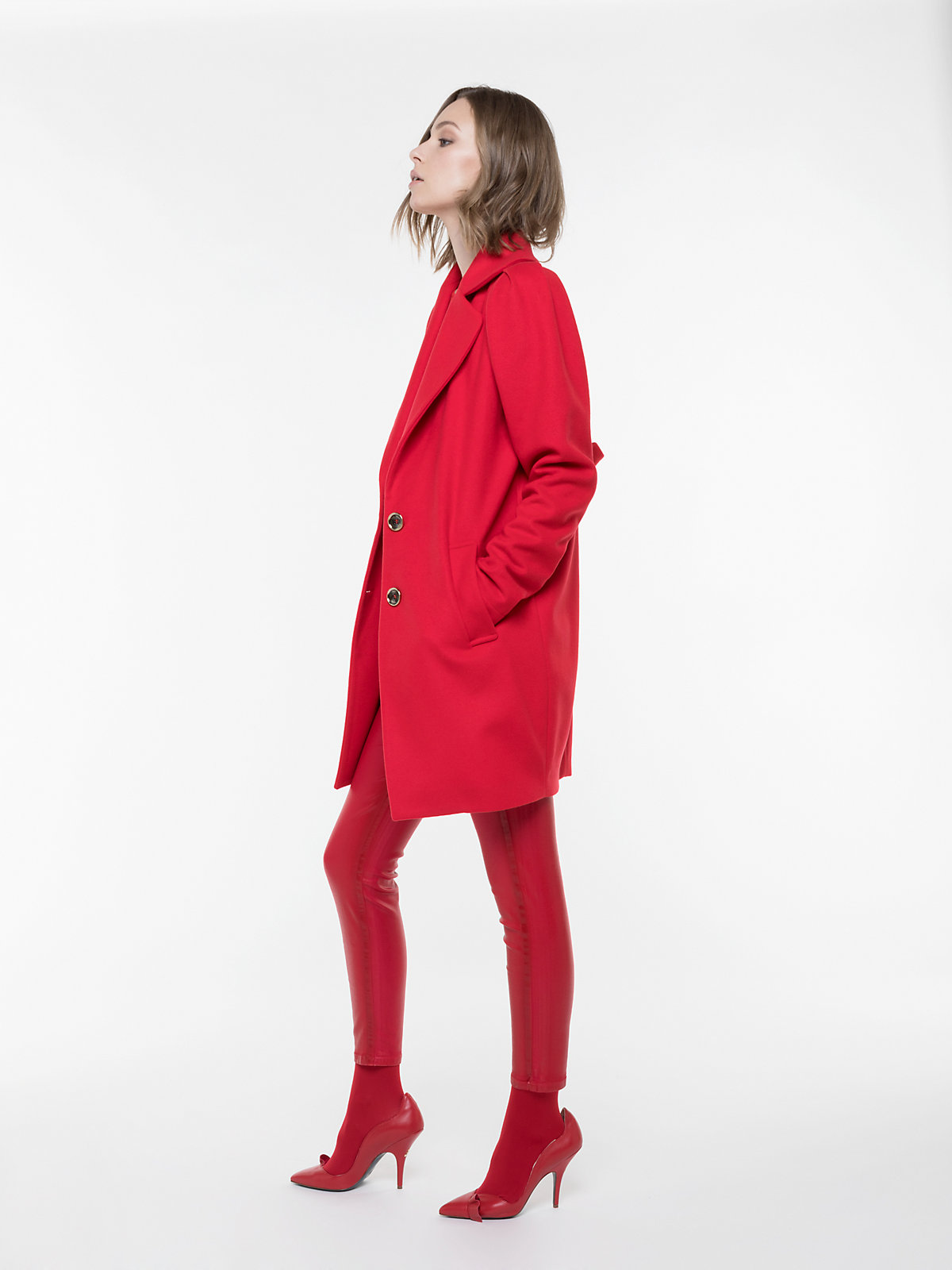 9bbda1d6d5ee Cappotto rosso in lana e cashmere Patrizia Pepe a 548 euro