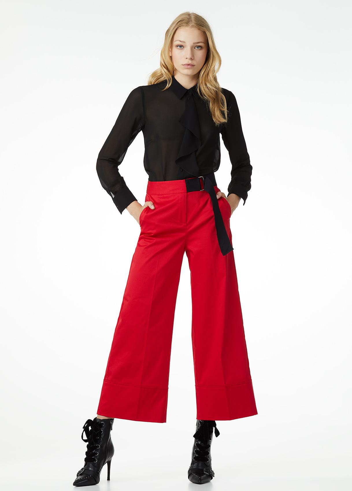 Pantaloni culotte rossi Liu Jo a 129 euro